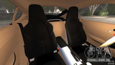 Porsche Cayman R 2012 [RIV] para GTA 4 vista interior