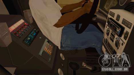 Land Rover Defender Sheriff para GTA San Andreas vista interior