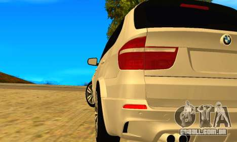 BMW X5M 2013 v2.0 para GTA San Andreas esquerda vista