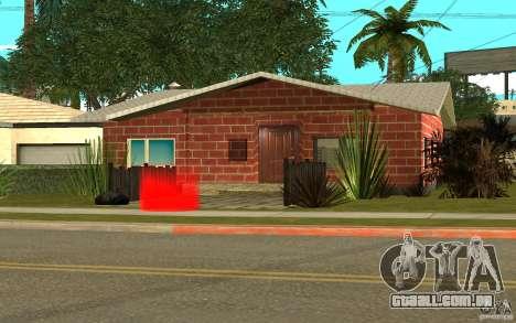 Novas texturas para casa Denis para GTA San Andreas quinto tela