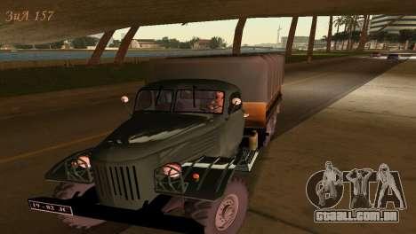 ZIL-157 para GTA Vice City vista traseira esquerda