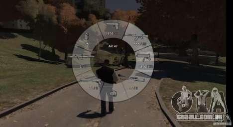 GTA 5 Weapon Wheel HUD para GTA 4 terceira tela