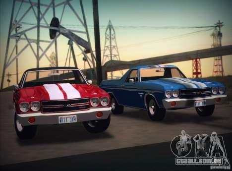 Chevrolet EL Camino SS 70 para GTA San Andreas traseira esquerda vista