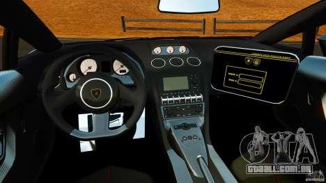 Lamborghini Gallardo LP570-4 Superleggera 2011 para GTA 4 vista de volta