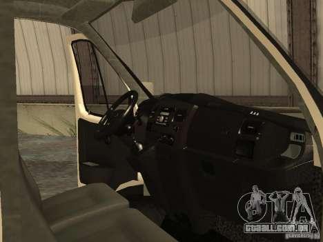 GAZ 2752 Sobol negócios para GTA San Andreas vista interior