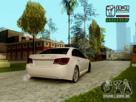 Chevrolet Cruze para GTA San Andreas vista direita