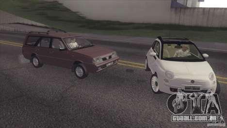 Fiat 500 Lounge 2010 para GTA San Andreas vista traseira