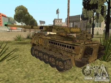 BMTV M1128 MGS para GTA San Andreas traseira esquerda vista