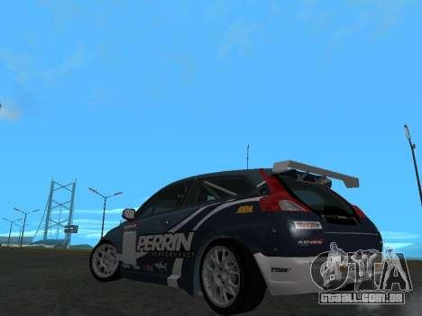 Volvo C30 Race para GTA San Andreas traseira esquerda vista