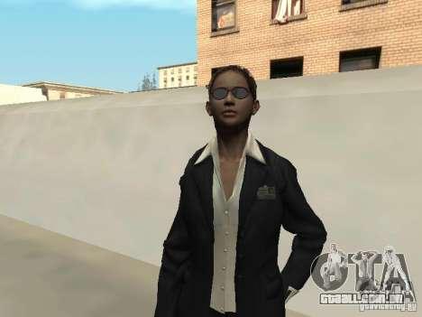 FBI feminino pele para GTA San Andreas segunda tela
