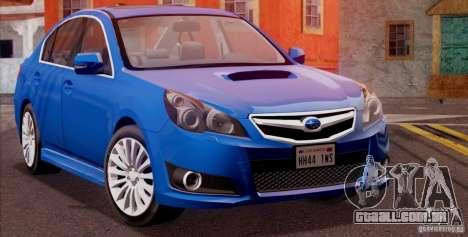 Subaru Legacy B4 2010 para GTA San Andreas traseira esquerda vista