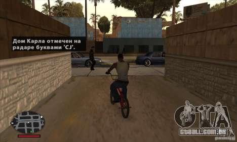 HUD for SAMP para GTA San Andreas quinto tela