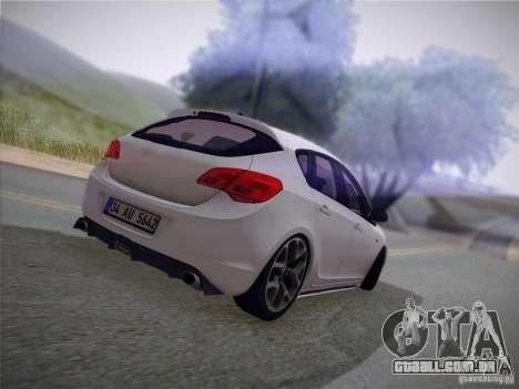 Opel Astra Senner Lower Project para GTA San Andreas vista interior