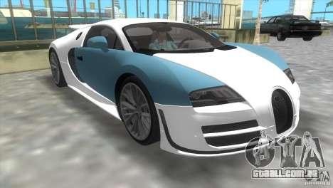 Bugatti ExtremeVeyron para GTA Vice City deixou vista