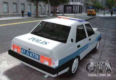 Tofas Sahin Turkish Police ELS para GTA 4 traseira esquerda vista