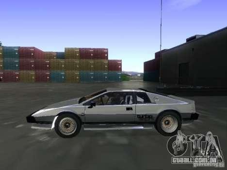 Lotus Esprit Turbo para GTA San Andreas vista direita
