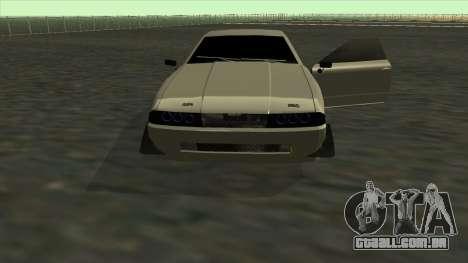 Elegy Roportuance para GTA San Andreas vista superior