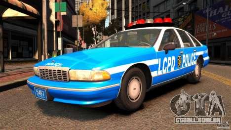 Chevrolet Caprice 1993 LCPD para GTA 4