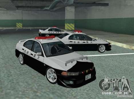 Mitsubishi Galant Police para GTA San Andreas esquerda vista