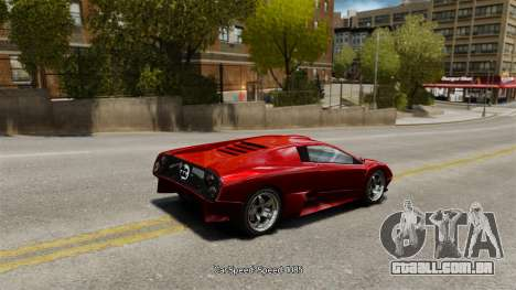 Velocidade do veículo para GTA 4 quinto tela