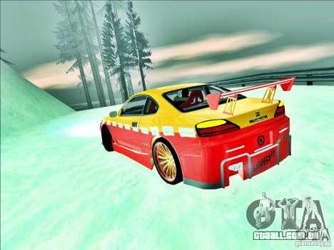 Nissan Silvia S15 Calibri-Ace para GTA San Andreas vista traseira