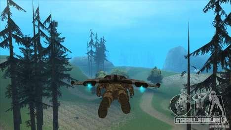 JetWings Black Ops 2 para GTA San Andreas sexta tela