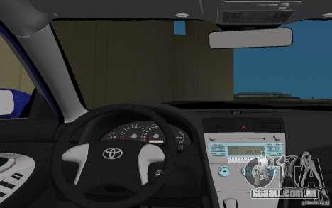 Toyota Camry 2007 para GTA Vice City vista inferior