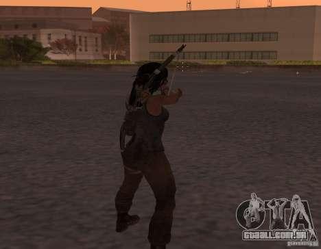 Skin Tomb Raider 2013 para GTA San Andreas segunda tela