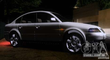 Volkswagen Passat B5 para GTA San Andreas vista interior