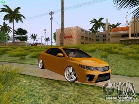 Kia Cerato Coupe 2011 para GTA San Andreas vista superior