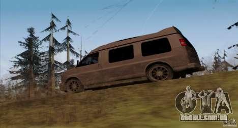 GMC Savana AWD para GTA San Andreas traseira esquerda vista