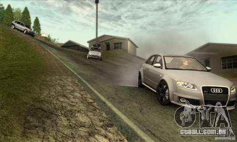 Audi RS4 para GTA San Andreas vista traseira