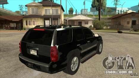 GMC Yukon Unmarked FBI para GTA San Andreas vista direita
