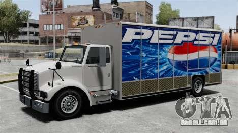 O novo anúncio para o caminhão de Benson para GTA 4 terceira tela