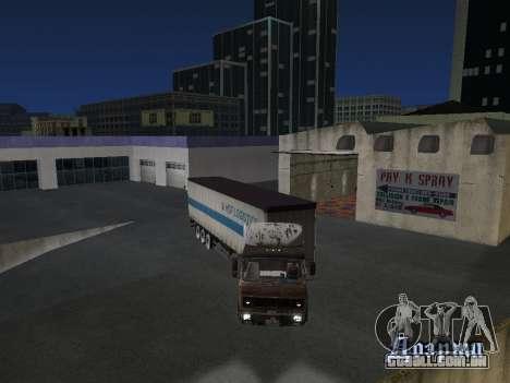 Reboque Schmitz para GTA San Andreas vista traseira