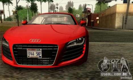 Audi R8 para GTA San Andreas vista traseira