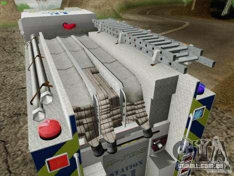 Pierce Pumpers. B.C.F.D. FIRE-EMS para GTA San Andreas vista superior