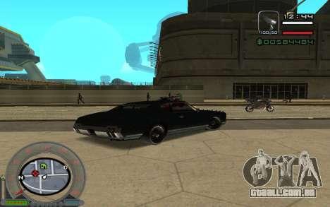 New Sabre para GTA San Andreas traseira esquerda vista
