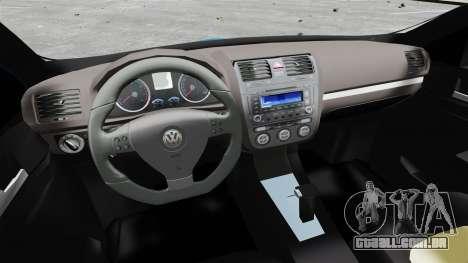 Volkswagen Jetta 2010 para GTA 4 vista de volta