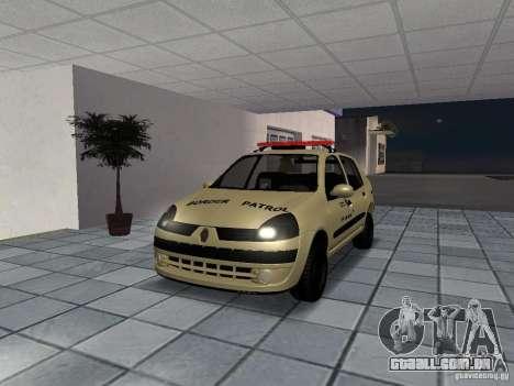 Renault Clio Symbol Police para GTA San Andreas