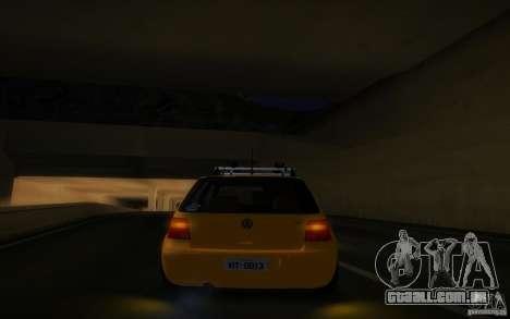 Volkswagen Golf para GTA San Andreas vista traseira