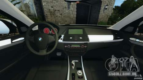 BMW X1 para GTA 4 vista de volta