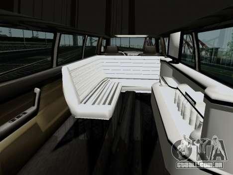 Hummer H3 Limousine para GTA San Andreas traseira esquerda vista