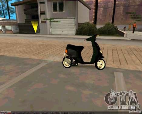 Piaggio Zip para GTA San Andreas vista direita