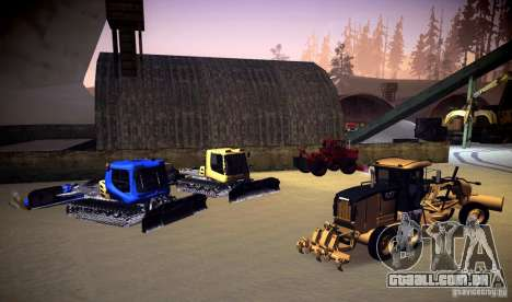 Caterpillar 140AWD Motorgrader para GTA San Andreas vista interior