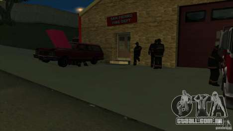 Estação de fogo de avivamento em San Fierro v 2. para GTA San Andreas por diante tela