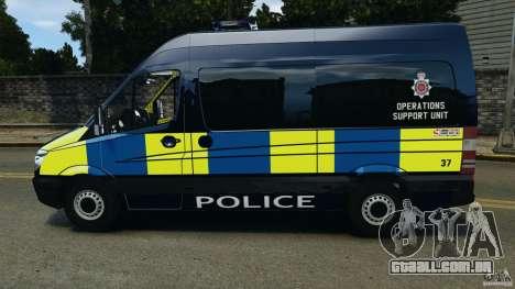 Mercedes-Benz Sprinter Police [ELS] para GTA 4 esquerda vista