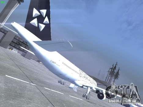 Airbus A330-300 Air Canada para GTA San Andreas vista direita