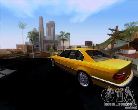 BMW 730i E38 1996 Taxi para GTA San Andreas traseira esquerda vista