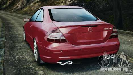 Mercedes-Benz CLK 63 AMG para GTA 4 traseira esquerda vista